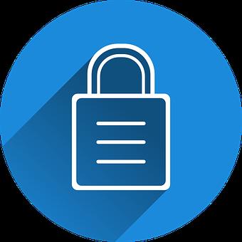 Lucchetto stilizzato - La sicurezza del sito web