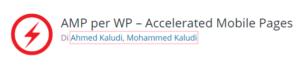 Logo del plu-in AMP per WP